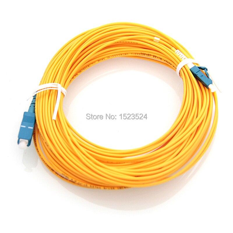 Free Shipping SM SX 3mm 20M SC-LC Fiber Optic Jumper Cable SC/UPC-LC/UPC Fiber Optic Patch Cord