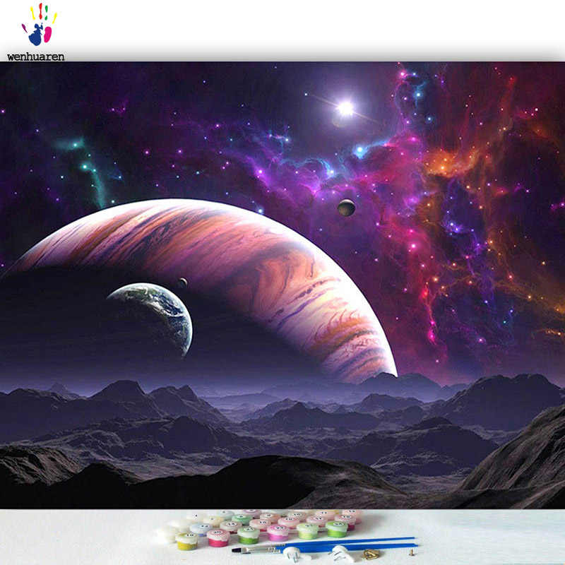 DIY colorings pictures by numbers with colors I love the stars picture drawing painting by numbers framed Home