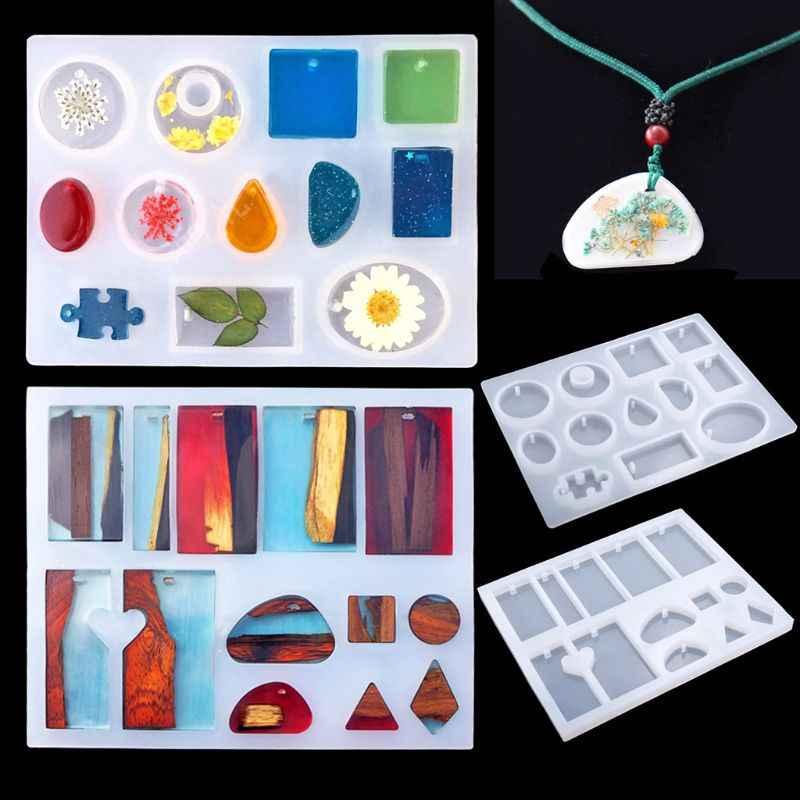 DIY אפוקסי שרף חומרים מקצועי תכשיטי ביצוע כלים סיליקון עובש ציפורניים תרגיל תבניות נצנצים כפית טפטפת בעבודת יד אמנות