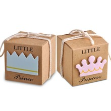 ФОТО 12pcs/set crown favor box wedding birthday baby shower party candy boxes bags gift new