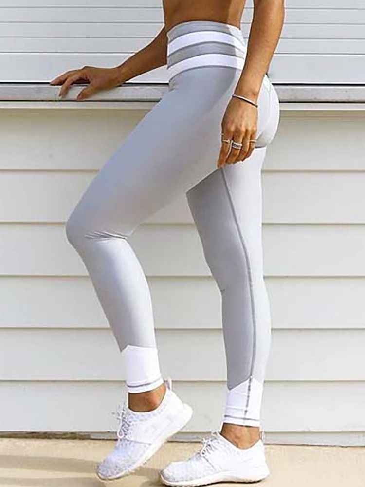 New Fashion Women Workout Fitness Leggings Pants Clothes Stylish Womens Skinny Pants Patchwork Slim Elastic Leggings