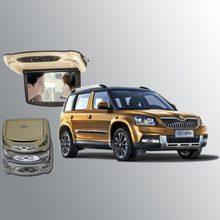 BigBigRoad для Skoda Yeti автомобильный монитор на крыше автомобиля светодиодный цифровой экран Поддержка HDMI USB FM ТВ игры ИК пульт дистанционного управления флип вниз DVD
