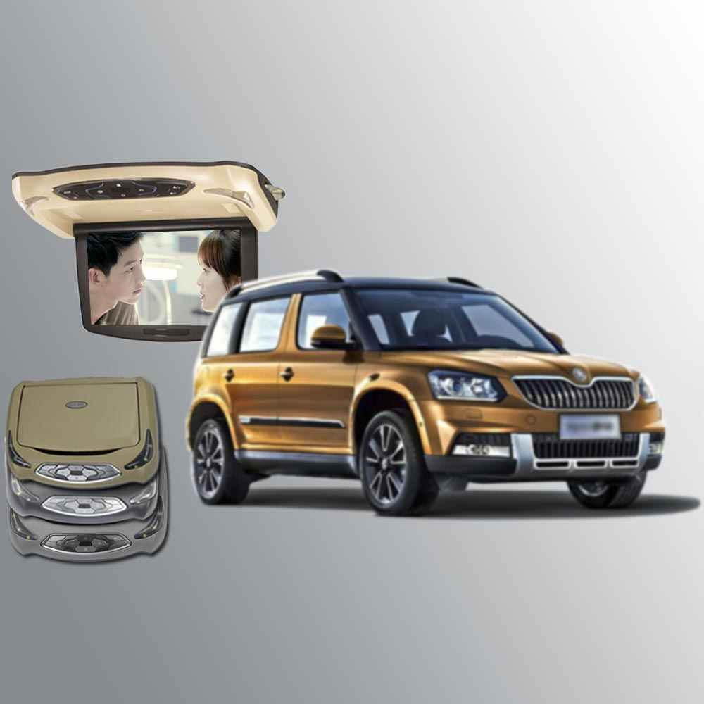 BigBigRoad для Skoda Yeti, устанавливаемый на крыше автомобиля установлен в автомобиле мониторы светодиодный цифровой экран Поддержка HDMI USB FM TV игры ИК пульт дистанционного