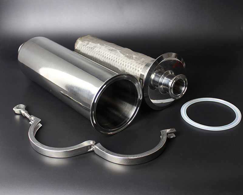 2/'/' Sanitary Tri-Clamp Filter Straight Strainer with SS304 100 Mesh Screen
