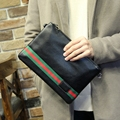 New Fashion Design Men Envelope Clutch Bags High Quality PU Leather Portable Casual Men envelope HandBag Black Travel Small Bag