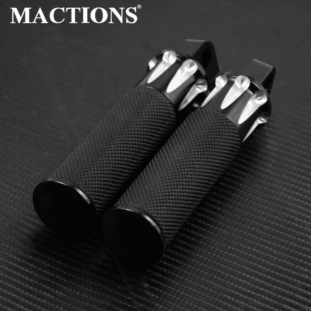 Motorcycle Accessories Black Aluminum Foot Rest Pedal Footpeg Pedal For Harley Sportster 883 1200 Touring Dyna
