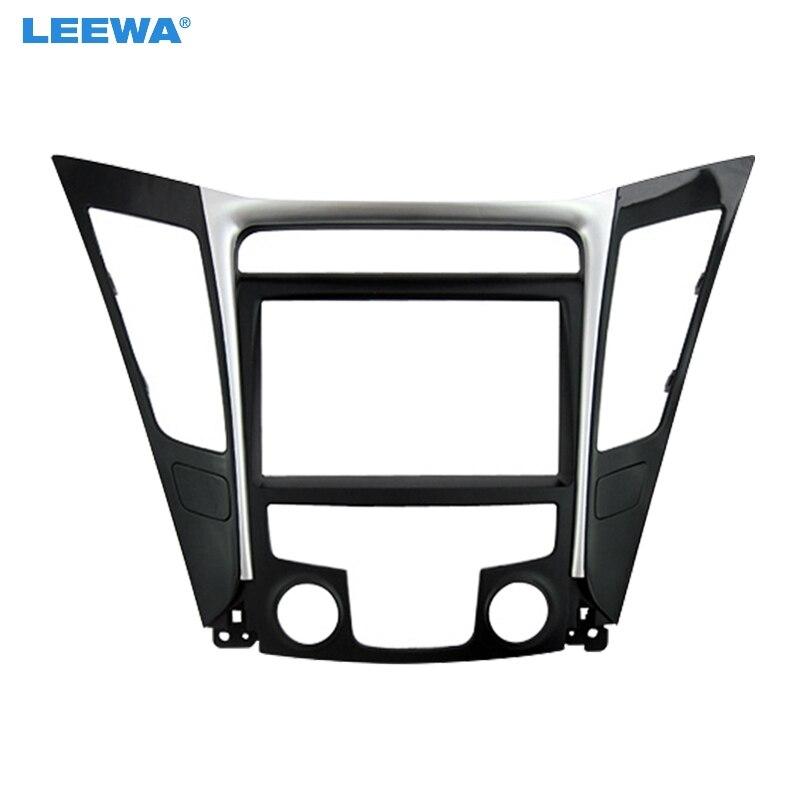 LEEWA voiture remontage DVD Radio 2Din Fascia cadre pour Hyundai Sonata YF (LHD & RHD) stéréo Face panneau Dash kit d'outils pour habillage # CA5146