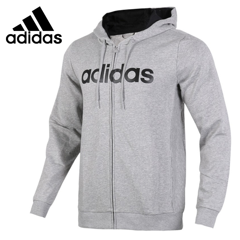 Original New Arrival 2018 Adidas NEO Label CE ZIP HOODIE Men's jacket Hooded Sportswear plaid insert side zip hooded tee