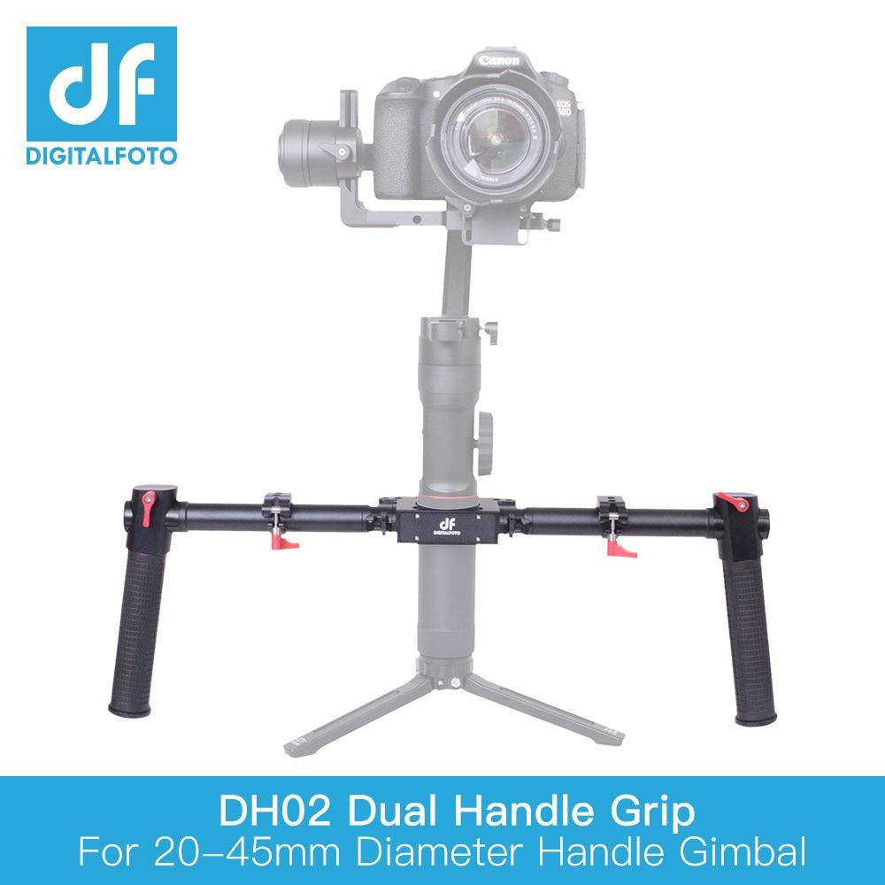 DF DIGITALFOTO RS-DH01 DJI RONIN S 3 Axis Gimbal stabilizer hand grip bars alloy aluminum dual handle mount accessories mount