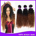 7A Ombre Brazilian Hair Kinky Curly 4 Bundles Two Tone 1B 30 Curly Ombre Human Hair Weave Extensions Ombre Brazilian Virgin Hair