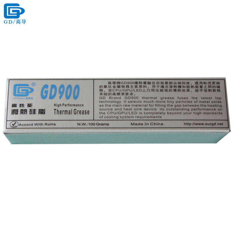 GD900 Thermal Conductive Grease Paste Silicone Plaster Heat Sink Compound Net Weight 100 Grams High Performance ST100 gd brand thermal conductive grease paste silicone plaster gd460 heat sink compound net weight 1000 grams silver for led cn1000