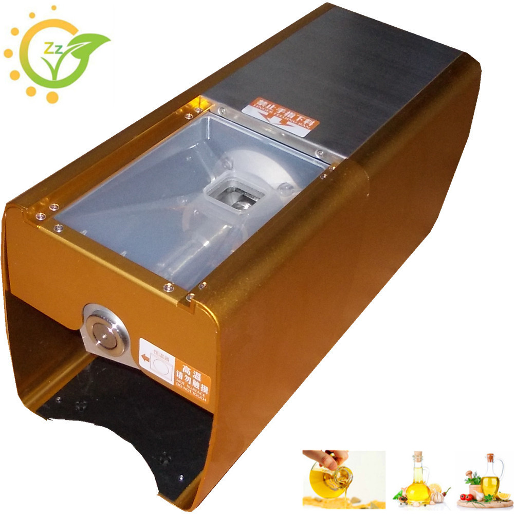 Home Oil Press machine aluminum electric Cold Hot press for peanut Small Home mini seed oil extraction machine 220v hot and cold home oil press machine peanut soy bean cocoa oil press machine high oil extraction rate zyj 02