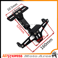 CNC Aluminum Adjustable Angle Motorcycle License Number Plate Frame Holder Bracket Universal For  Yamaha