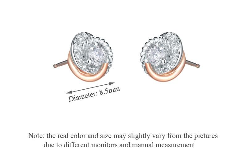 amor círculo 925 brincos de prata para mulher