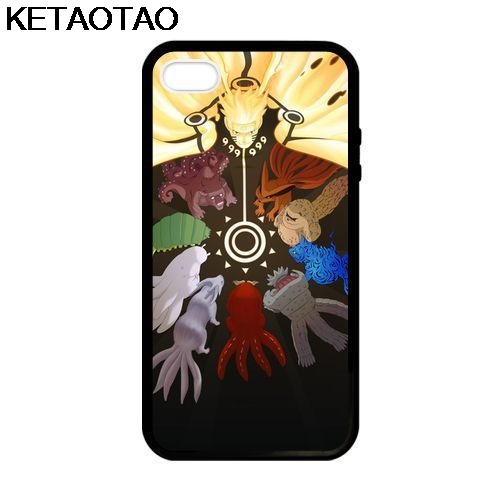KETAOTAO Naruto Tutti Bijuu Phone Cases for iPhone 4S 5C 5S 6S 7 8 Plus X for Samsung S6 8 9 NOTE Case Soft TPU Rubber Silicone