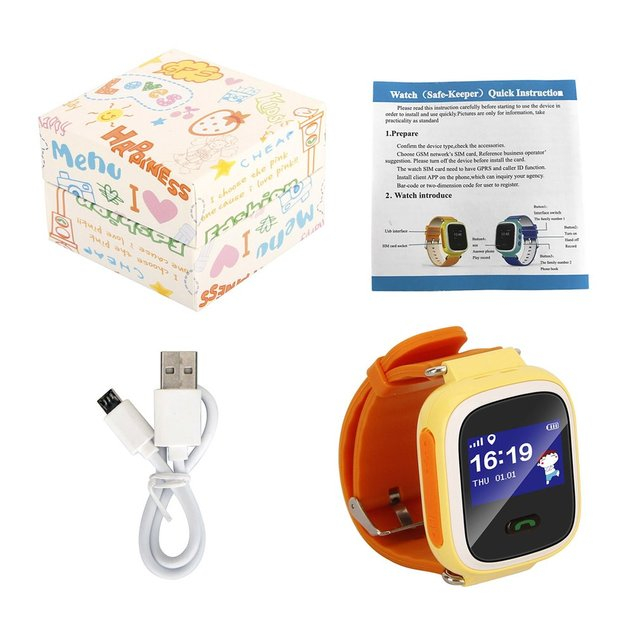 Q60 GPRS Phone WIFI Children's Smart Watches Locator Touch Screen SOS SIM Call B