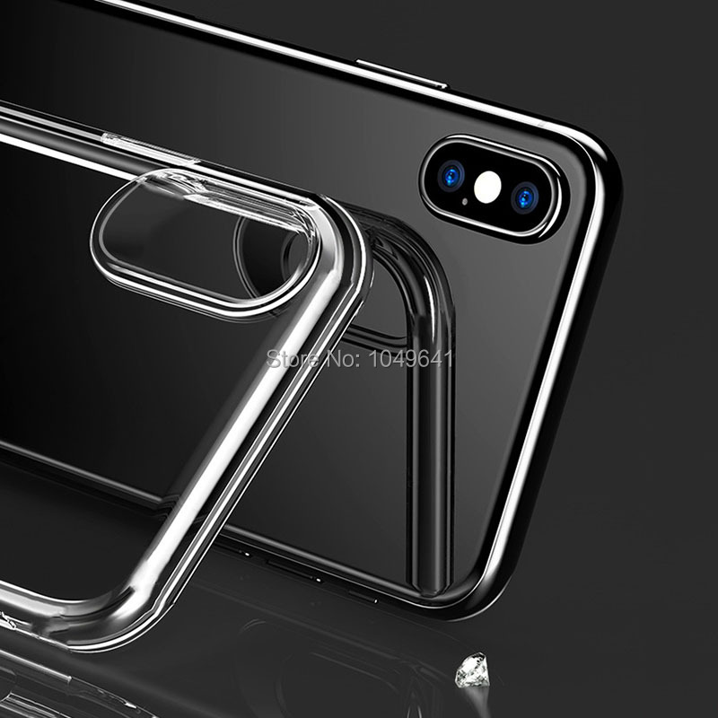KIPX1004_4_Transparent Clear TPU Case For iPhone X.