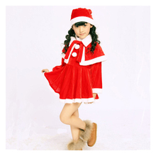 Christmas Dress 2016 autumn winter 1-5 year old Girl Costume Dress three piece suit fashion children suit thickening Dress suit baby girl clothes child girl winter clothes suit 0 1 2 3 year old plus velvet thickening warm three pieces costume for boys