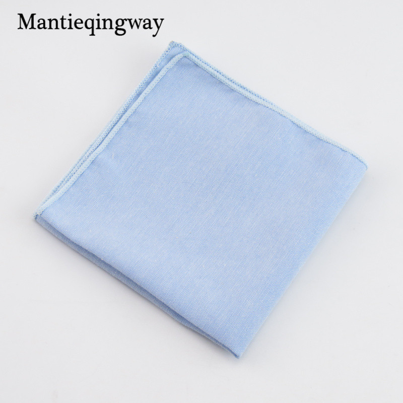 Mantieqingway Solid Color Handkerchiefs For Men Women Wedding Business Suit Pocket Square Accesories Fashion Casual Chest Towel