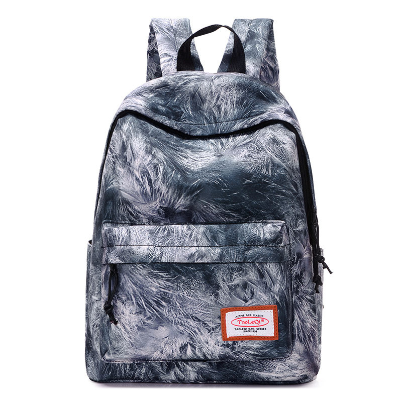 Casual Canvas Backpack Fashion Printing Backpack Rucksack Printing Teenager Girls School Bag