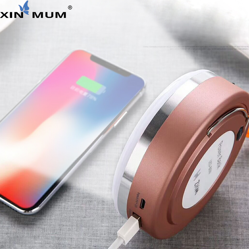 XIN MUM Magnetic led 80W light 10000mAh Power Bank Fast Charger with hook lanyard Quick Charging Mobile Phones Powerbank Lamp