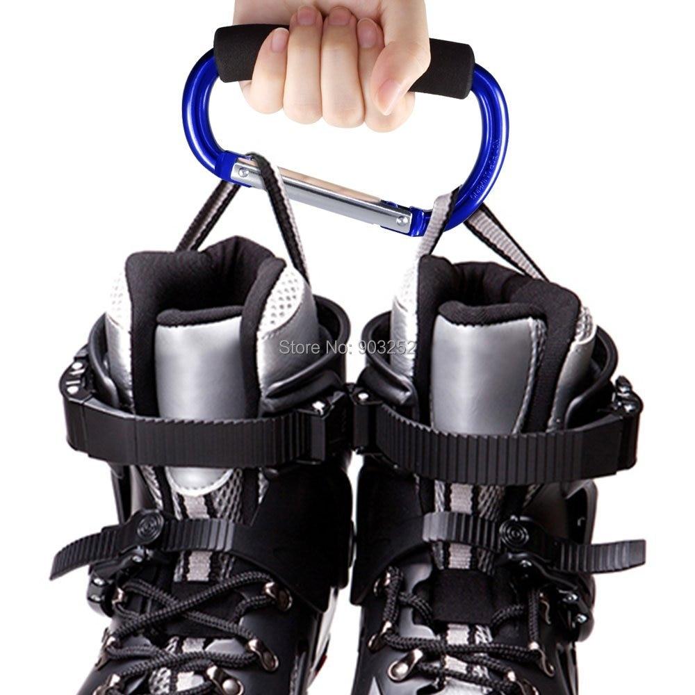 """Крючки для прогулочных колясок держатель для продуктовой сумки ручка карабины 6,"""" 5,1"""" Удобный очень большой d-образный инструмент для переноски крючков с мягкой пеной"""