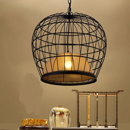 Cage chandelier iron bird cage light Chinese style of India and Pakistan style original character India  Pakistan cage LU728310