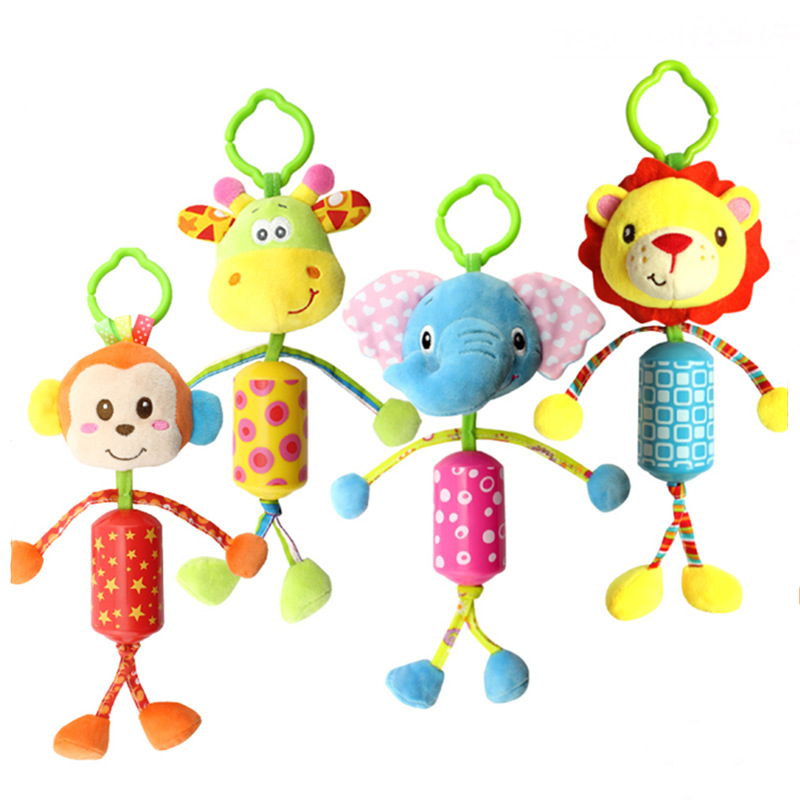 NewBorn Baby Stroller Toys Bed Educational Rattles Styles Soft For Gift