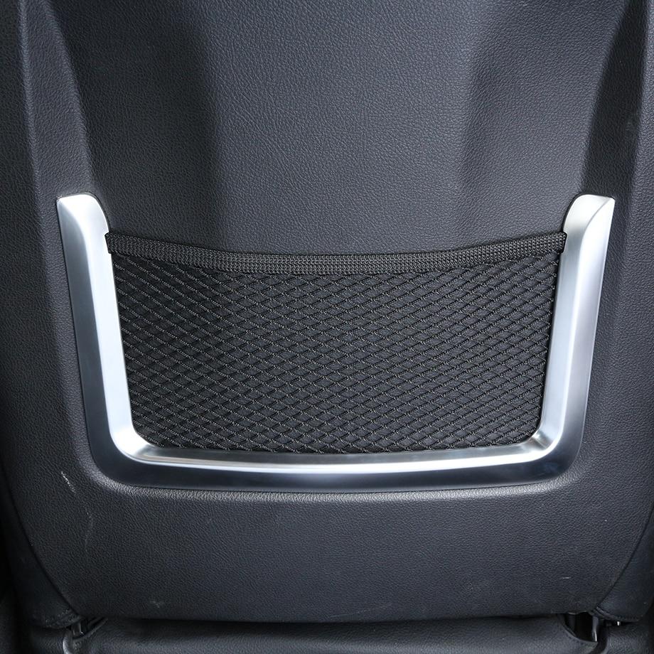 2pcs ABS Chrome Interior Accessory Seat Bag Net Frame Trim For BMW 3 4 Series GT