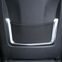 2pcs ABS Chrome Interior Accessory Seat Bag Net Frame Trim For BMW 3 4 Series GT f30 f34 320li 2012 2017Car Styling