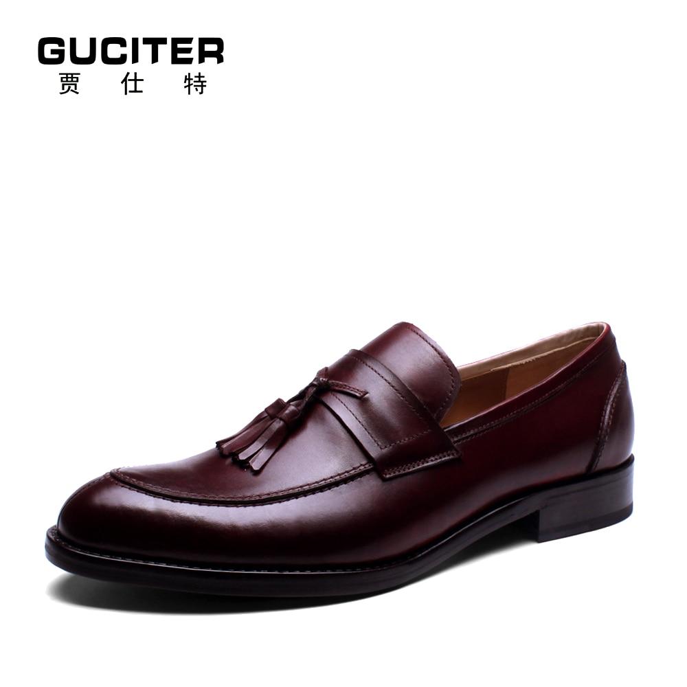 Free Shipping Goodyear loafer handmade font b Shoes b font font b mens b font brush