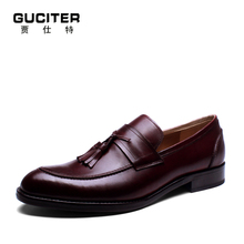 Free Shipping Goodyear loafer handmade Shoes mens brush color Loafer Shoe leisure British custom bespoke business dress suits