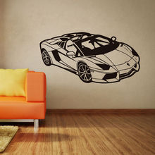 Wall Decal Kids Room Fashion Sport Racing Car Vinyl Art Sticker Home Accessories Bedroom Living Room Decoration Removable WW-170 road wall decal highway vinyl sticker street wall art kids racing road bedroom living roon home decoration removable diy ww 182