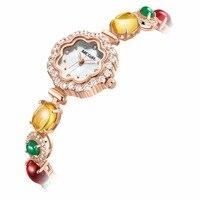 MEGIR Women Fashion Bracelet Watches Luxury Quartz Ladies Watch For Female Love Couple Chain Bracelet L