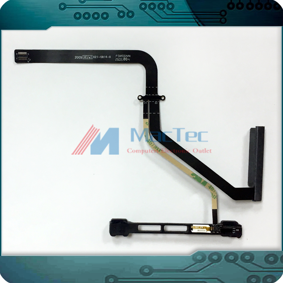 BRAND NEW 821-0814-A for Apple Macbook Pro 13.3 A1278 HDD Hard Drive Flex Cable w/ IR Sleep Sensor Bracket 2009 2010 Year