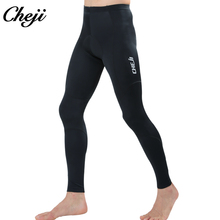 CHEJI Men Spring Autumn Mountain Road MTB Cycling Pants  Breathable Bicycle Cycling Long Pants Black Tights Lycra acacia 0297003 men s stylish cozy dacron spandex cycling pants black l