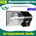 Пзс-hd ночного видения заднего вида камера заднего вида камера для Toyota Avensis ( 2006 - 2008 ) Corolla стоянка для автомобилей фотоаппарат