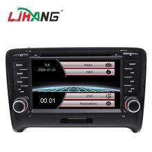 LJHANG 2 Din Auto Lettore DVD Per Audi TT 2006 2007 2008 2009 2010 2011 di Navigazione GPS Bluetooth Audio Stereo unità principale USB RDS FM