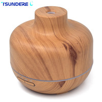 TSUNDERE L Air Humidifier Aroma Diffuser 250ml Air Aromatherapy Machine Wood Grain No Water Automatic