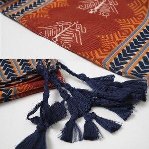 Image 5 - 2019 Women African Ethnic nation Shawl Scarf Winter Plus Size Warm Wrap Pashmina Maroon Tassels Muslim Hijabs Sjaal 180*110Cm