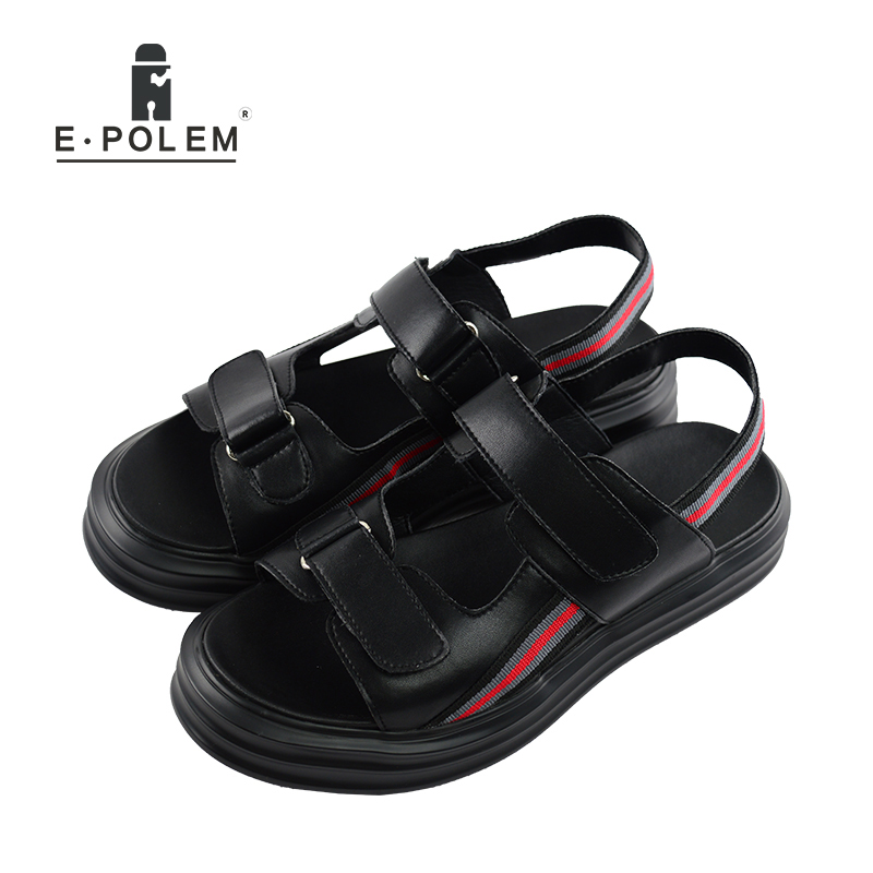 2017 Fashion Designers Men Sandals Brand Leather Slippers for Men Zapatos Sandalias Hombre Summer Beach Sandals Shoes цена