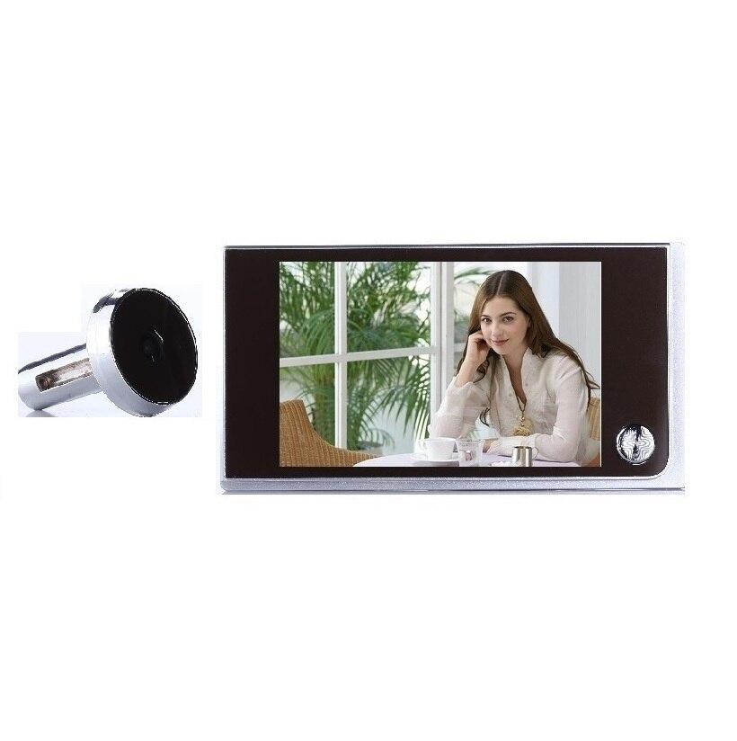 Video-eye Digital Peephole Doorbell Wireless 3.5 Inch LCD 0.5 Megapixels Door Camera 120 Degree Widen Viewing Angle Video Call