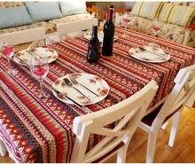Böhmischen stil spitze Baumwolle Leinen rechteck tischdecke abdeckung für cafe restaurant Party Haus tisch tuch textile dekoration 7 größen