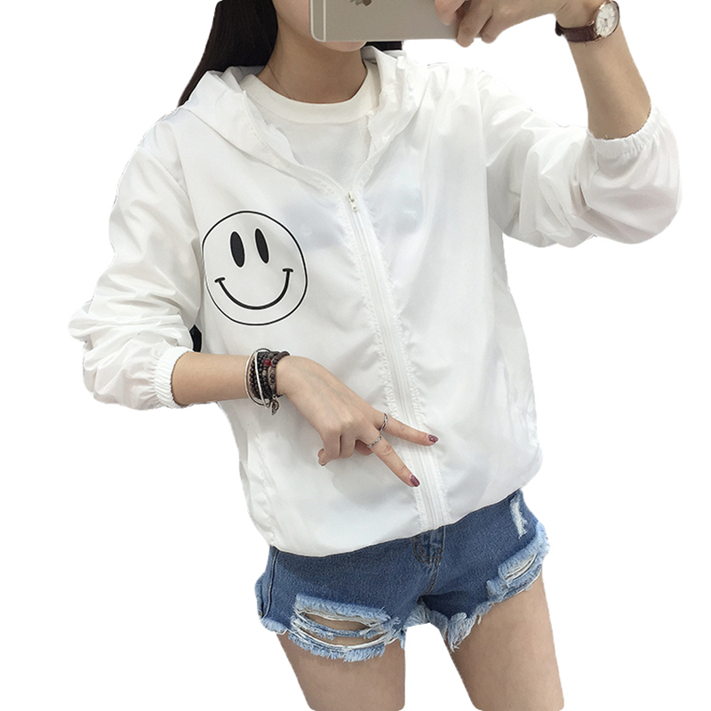 Women Basic Jacket New Fashion Hooded Thin Outwear High Quality Windbreaker Female Summer/Spring Sunscreen Jacket 2018