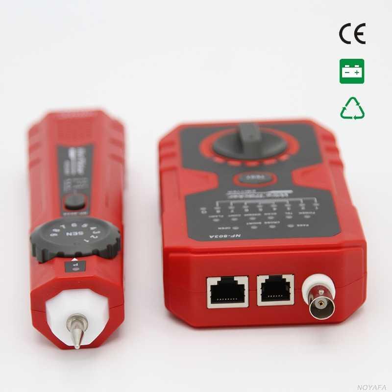 سلك المقتفي rj45 Noyafa NF-803A سلك المقتفي تعقب الحبر ل UTP/STP RJ45 ، RJ11 ، BNC اختبار كابل الشبكة