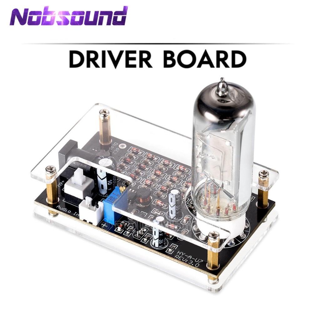 Nobsound HiFi Mini Magic Eye 6E2 EM87 Preamp Tube Audio Level Indicator VU Meter Driver Board With Case