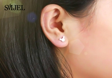 SMJEL New Fashion Women Mickey Earrings Cartoon Mouse Stud Earrings Mother's Day gift Cute Animal Small Earings boucle d'oreille