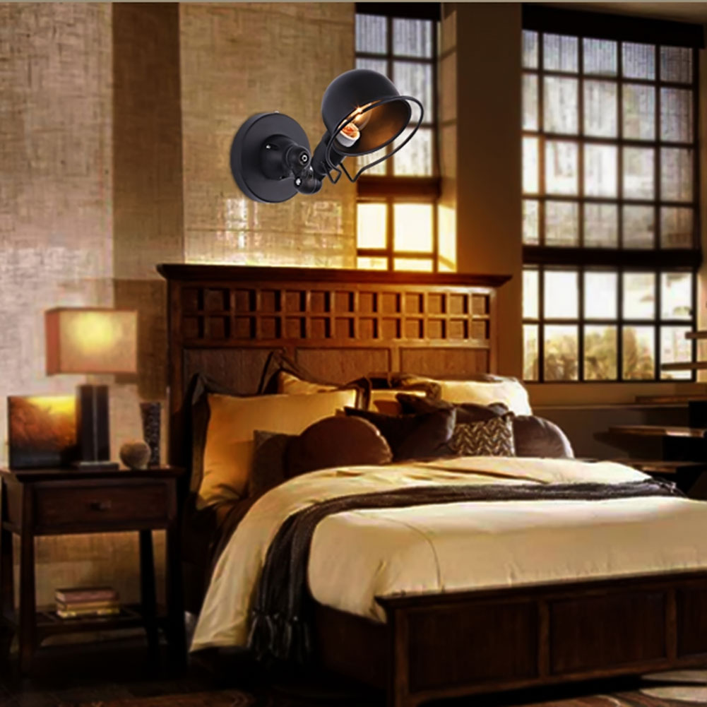 Image 3 - Industrial loft jielde mini Adjustable retro E14 LED Wall Lights Sconce wall Lamp Fixtures for home lighting bedside living room-in LED Indoor Wall Lamps from Lights & Lighting