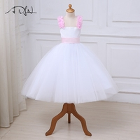 ADLN Flower Girl Dresses With Bow Lace Tulle Ball Gown First Communion Dress For Girls Customized