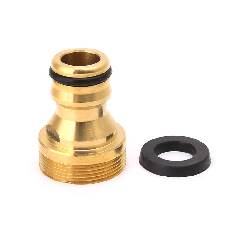 Solid Brass Threaded Connector Hose Water Pipe Connectors Faucet Tube Adapter Kitchen Fitting